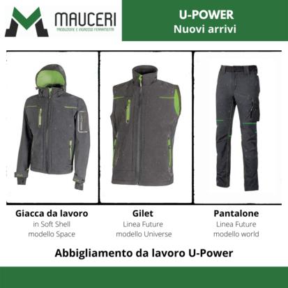 Nuova linea abbigliamento U-Power